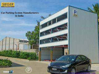 Automated Car Parking System Manufacturers