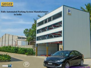 Fully Automated Parking System Manufacturers