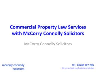 Commercial Property Law Services with McCorry Connolly Solicitors