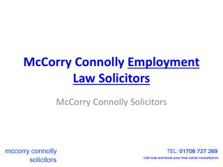 McCorry Connolly Employment Law Solicitors