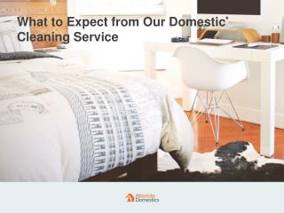 What to Expect from Our Cleaning Service | Absolute Domestics