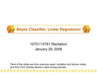 Bayes Classifier, Linear Regression
