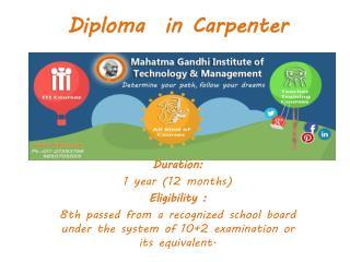 MGITI Diploma in Carpenter
