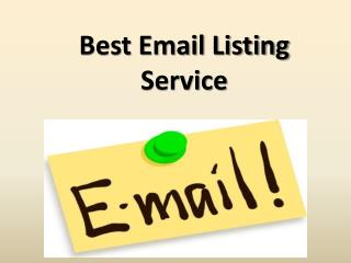 Best Email Listing Service