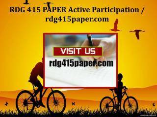 RDG 415 PAPER Active Participation /rdg415paper.com