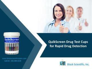 QuikScreen Drug Test Cups for Rapid Drug Detection