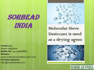 Molecular Sieve Desiccant for drying agent