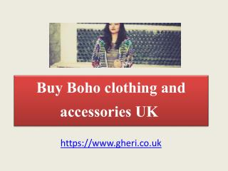 Buy Boho Clothing And Accessories UK