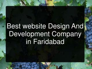 Web Designing Company Faridabad, Website Designing Faridabad
