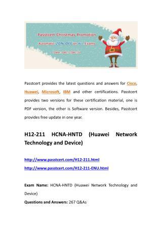 Passtcert H12-211 actual questions, H12-211-ENU real dumps