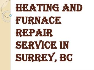 Best Heating and Furnace Repair Services in Surrey, BC