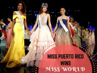 Miss Puerto Rico wins Miss World