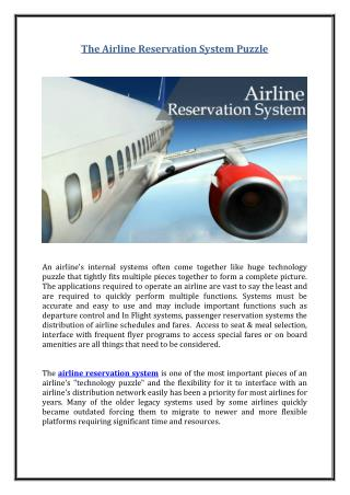 The Airline Reservation System Puzzle