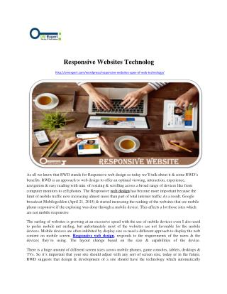 Responsive Websites Technology