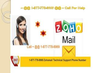 Zoho Tech @1 877*778/8969 Support For Best Mail Service