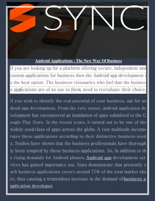 Android Applications - The New Way Of Business