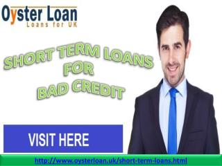 Get easy cash with short term loans