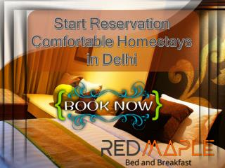 Locate affordable homestays in new delhi online