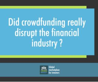 Crowdfunding a financial disrupt by Crowdinvest
