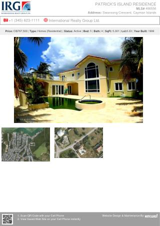Patrick's Island Residence - Residential Property from IRG Cayman