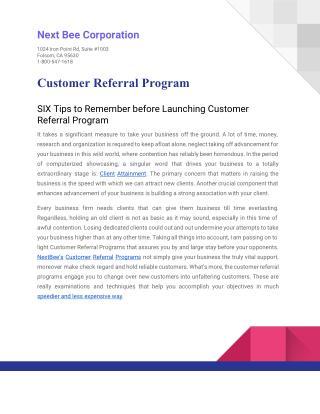 E Book - Customer Referral Program