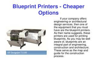 Blueprint Printers - Cheaper Options