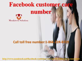 Dial toll free Facebook customer care number 1-866-224-8319