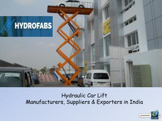 Hydraulic Car Lift Manufacturers