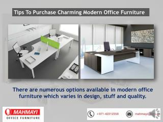 Tips To Purchase Best Charming Modern Office Furniture