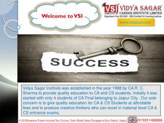 Best CA Coaching Institute for IPCC and CPT | VSI Jaipur