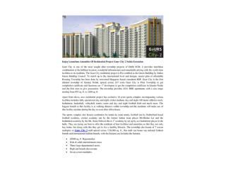 Enjoy Luxurious Amenities Of Residential Project Gaur City 2 Noida Extension