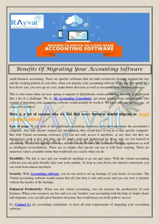 Benefits Of Migrating Your Accounting Software