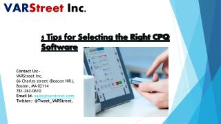 5 Tips for Selecting the Right CPQ Software