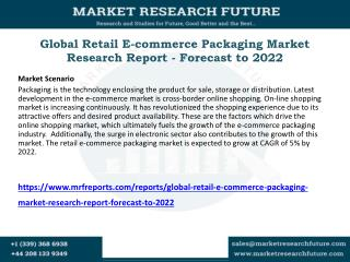 Global Retail E-commerce Packaging Market Research Report - Forecast to 2022