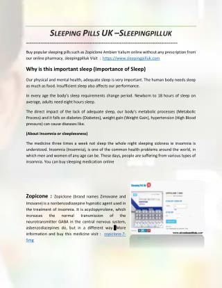 Buy Sleeping Pill in UK