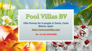 Holiday Villas Denia