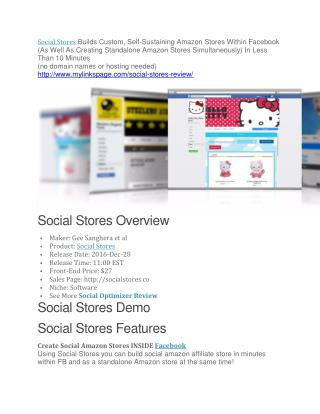 Social Stores review