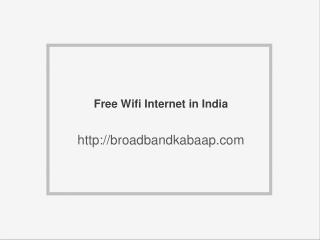 Free Internet in Chandigarh