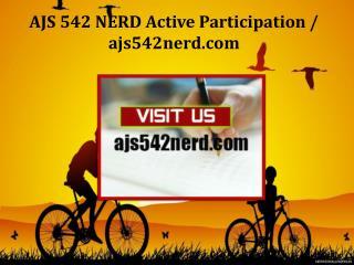 AJS 542 NERD Active Participation/ajs542nerd.com