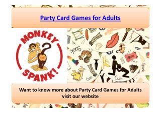 Party Card Games Adults
