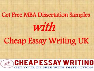 Get Free MBA Dissertation Samples with Cheap Essay Writing UK
