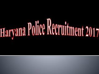 Haryana Police Recruitment 2017