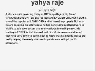 yahya raje