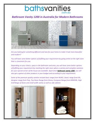 Bathroom Vanity 1200 in Australia for Modern Bathrooms