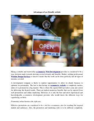 Advantages of seo friendly website
