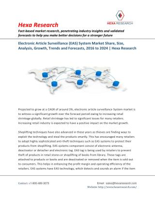 Electronic Article Surveillance (EAS) System Market is to Witness a Significant Growth by 2024 | Hexa Research
