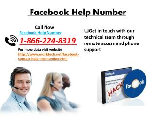 Facebook help number 1-866-244-8319  Issue Can Be Dealt Easily