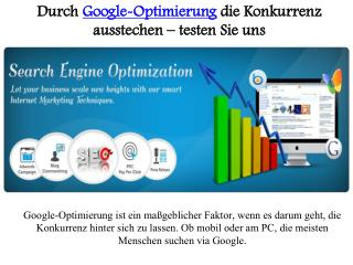 Durch google optimierung die konkurrenz ausstechen – testen sie