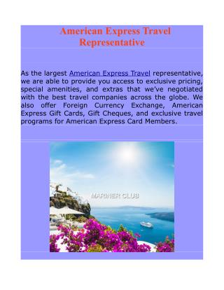 American Express Travel Representative