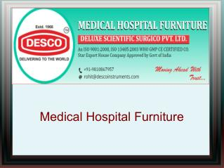 Hospital Furniture Manufacturers India